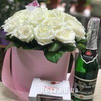 21 роза в коробке - Фото 1