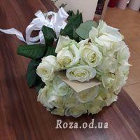 25 белых роз в букете - Фото 1