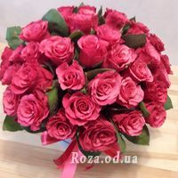Large bouquet of roses in box - Photo 1