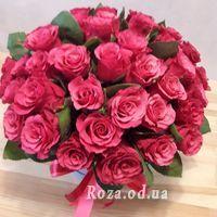 Большой букет роз в коробке - Фото 1