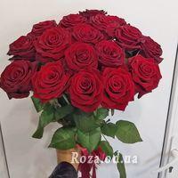 Букет із 17 червоних троянд - Фото 1