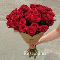 Букет із 39 червоних троянд - Фото 1