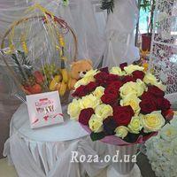 Букет из 51 разноцветной розы 70 см - Фото 1