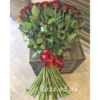 101 красная роза 80 см - Фото 1