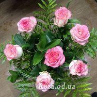 7 рожевих троянд - Фото 1