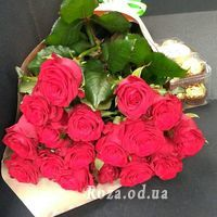 Букет із 17 червоних троянд - Фото 2