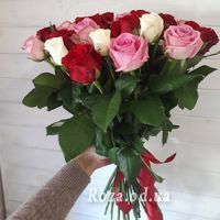 35 multicolored roses - Photo 1