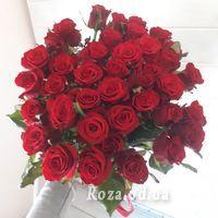 Букет із 39 червоних троянд - Фото 2