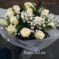 15 білих троянд - Фото 1