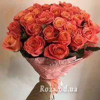 25 персиковых роз - Фото 4