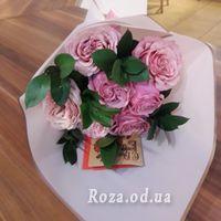 7 розовых роз - Фото 2