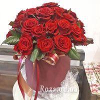 Большой букет роз в коробке - Фото 2
