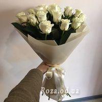 Букет із 21 білої троянди - Фото 2