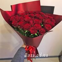 Bouquet of 29 red roses - Photo 1