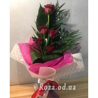 Bouquet of 5 roses - Photo 1