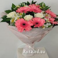 Bouquet of roses, gerberas and alstromeries - Photo 1