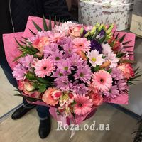 Chic bouquet of flowers mix - Photo 1