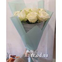 11 білих троянд - Фото 5