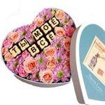 Цветы и шоколад в коробке - цветы и букеты на roza.od.ua