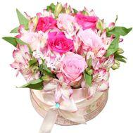 Букет в круглой коробке - цветы и букеты на roza.od.ua