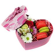 Flowers and sweets in a box - flowers and bouquets on roza.od.ua