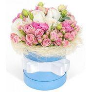 Композиция в коробке - цветы и букеты на roza.od.ua