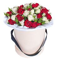 Коробка с цветами - цветы и букеты на roza.od.ua