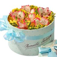 Маленькая коробка с цветами - цветы и букеты на roza.od.ua