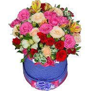Яркие цветы в коробке - цветы и букеты на roza.od.ua