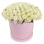 101 white rose in a box - flowers and bouquets on roza.od.ua