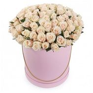 101 cream-colored roses in a box - flowers and bouquets on roza.od.ua