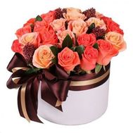 """Bouquet in a box for a man"" in the online flower shop roza.od.ua"