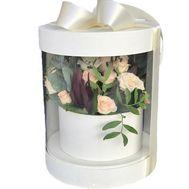 Букет в прозрачной коробке - цветы и букеты на roza.od.ua