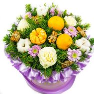 Flowers with tangerines - flowers and bouquets on roza.od.ua