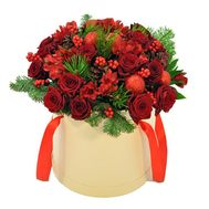 Flowers in the box for the New Year - flowers and bouquets on roza.od.ua