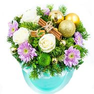 """Box of flowers for Christmas"" in the online flower shop roza.od.ua"