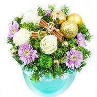 """""""Коробка цветов к Рождеству"""" в интернет-магазине цветов roza.od.ua"""
