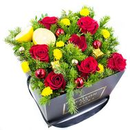 Новорічні троянди - цветы и букеты на roza.od.ua