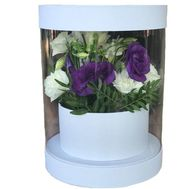 Прозрачная коробка с цветами - цветы и букеты на roza.od.ua