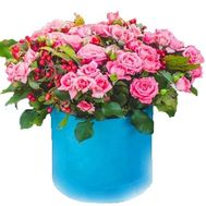 Розы в круглой коробке - цветы и букеты на roza.od.ua