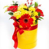 Солнечный букет в коробке - цветы и букеты на roza.od.ua