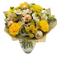 Яскравий новорічний букет - цветы и букеты на roza.od.ua
