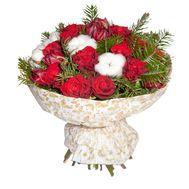 Новорічний букет із троянд - цветы и букеты на roza.od.ua