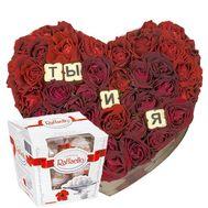Признание в любви - цветы и букеты на roza.od.ua
