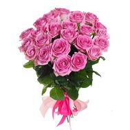 25 pink roses - flowers and bouquets on roza.od.ua