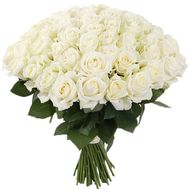 55 white roses - flowers and bouquets on roza.od.ua