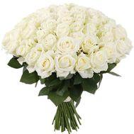 55 белых роз - цветы и букеты на roza.od.ua