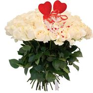 Buy a bouquet of white roses - flowers and bouquets on roza.od.ua