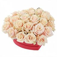 Heart of Cream Roses - flowers and bouquets on roza.od.ua