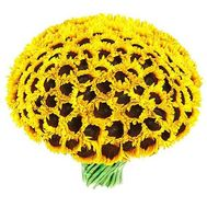 Large bouquet of sunflowers - flowers and bouquets on roza.od.ua